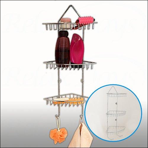 wohnideenshop duschkorb mit haken zum einh ngen wei und 11 anderen farben zum ausw hlen. Black Bedroom Furniture Sets. Home Design Ideas