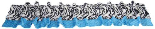 Baby Doll Zebra Minky Window Valance, Blue