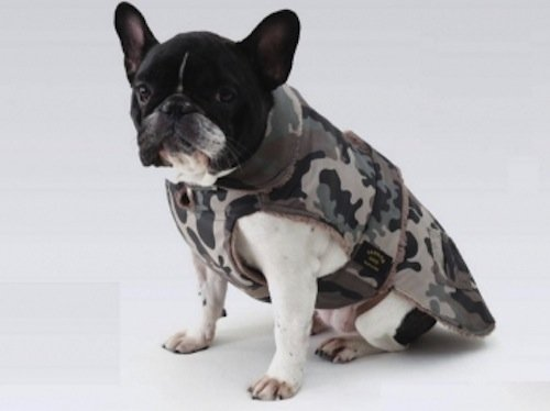 CAPPOTTO IMPERMEABILE MIMETICO FODERATO IN ECO MONTONE CM 39 FASHION DOG