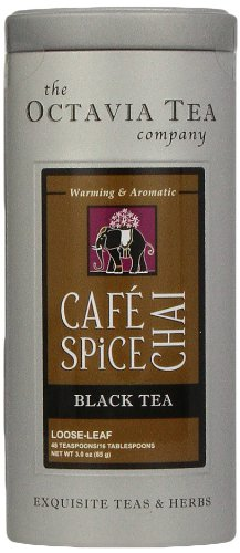 Octavia Tea Cafe Spiced Chai Black Tea, Loose Tea, 3 Ounce Tin