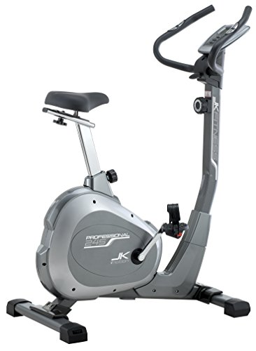 JK Fitness Professional JK245 Cyclette Magnetica, Grigio/Argento