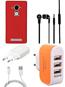 NIROSHA Cover Case Charger Headphone car for Coolpad Note 3 - Combo