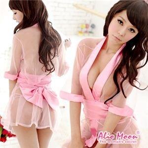 see through mini kimono costume 4 piece set cosplay f020