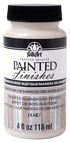 FolkArt Painted Finishes Art Paint in Assorted Colors (4 Ounce), 5107 Barnwood Wax (Folkart Wax compare prices)