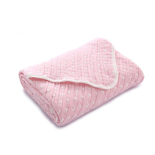 children's towels/[Cotton gauze]/Folds effect absorbent soft bath towel/ ultra breathable and cool in summer air conditioning blanket-B