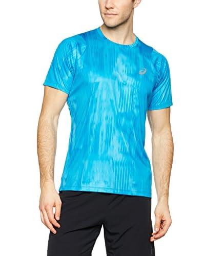 Asics T-Shirt Fuzex Printed blau