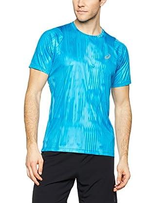 Asics Camiseta Manga Corta Fuzex Printed (Azul)