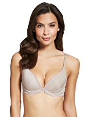 Perfect Fit Underwired Extreme V Plunge Push Up A-DD Bra