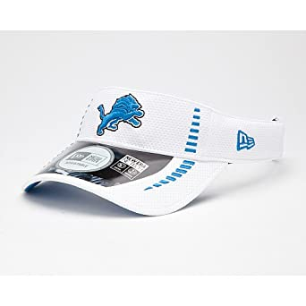 NFL Detroit Lions Training Camp Visor, White, One Size Fits All by New Era