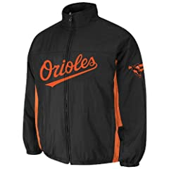 Baltimore Orioles Black Authentic Triple Climate 3-In-1 On-Field Jacket by Majestic by Majestic