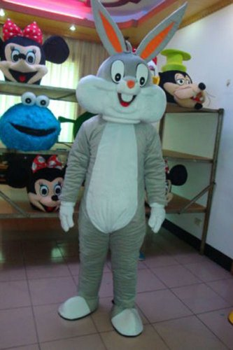 Warmcos Bugs Bunny Mascot Costume Cartoon Character Fancy Dress Outfit