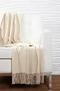 Pur Cashmere Water Cashmere Throw (Sand)
