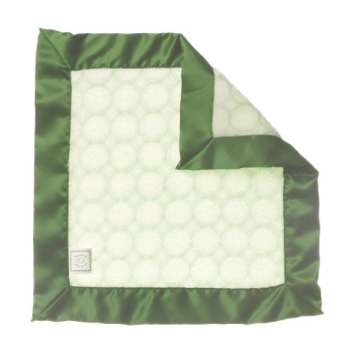 SwaddleDesigns Baby Lovie, Security Blankie with Very Light Puff Circles, Pure Green