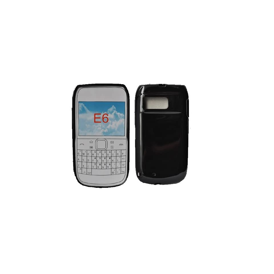 Palace  Black Gel case cover pouch holster for Nokia E6 Electronics