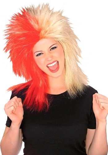 Red & Tan Sports Fanatic Wig