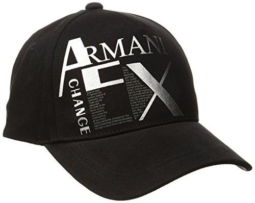 Armani Exchange Men's Literature Hat, Black, One Size (Armani Cap compare prices)
