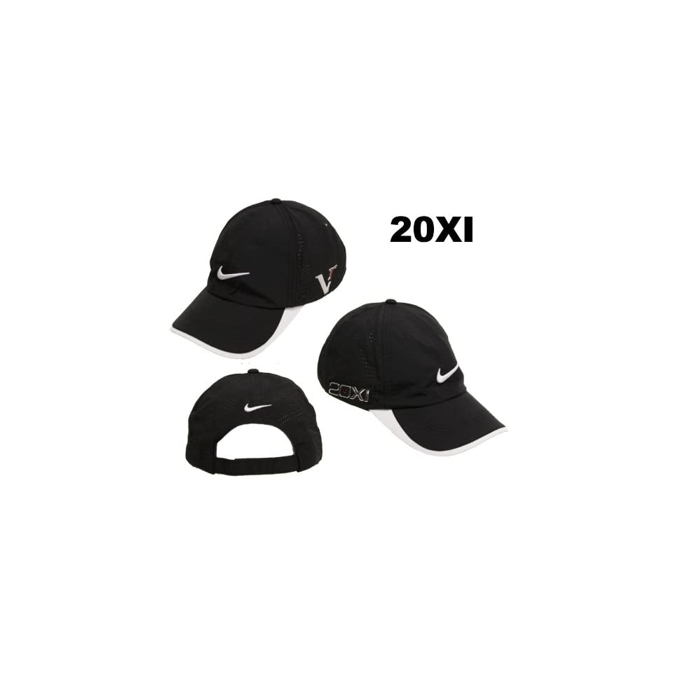 847ba8be5b4 Nike Golf 2011 Tour Peforated Cap Hat 20XI Victory Red Logo Black on ...