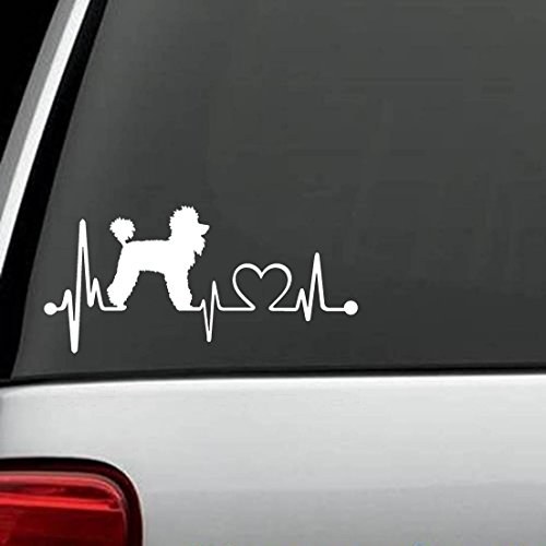 Poodle Heartbeat Lifeline Monitor Window Sticker