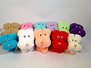 Perritos toalla pack 5 unidades colores surtido
