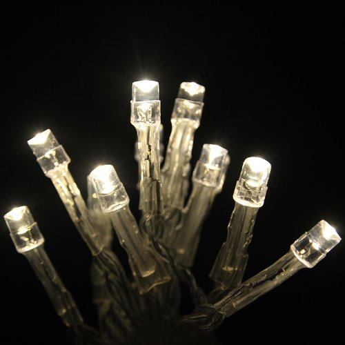 Review Eiiox Warm White 30 Led String Lights Battery Operated For Xmas Christmas Wedding Outdoor