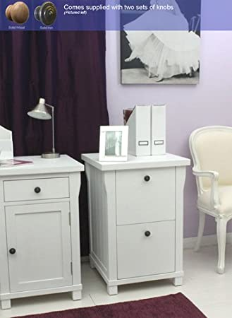 Agen 2 drawer filing cabinet white painted furniture