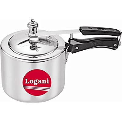 Logani Silver Aluminium 3 Ltrs Induction Base Pressure Cookers