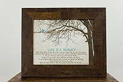 Life Is A Journey Home Family Love Inspirational Religious Framed Art Decor 13x16