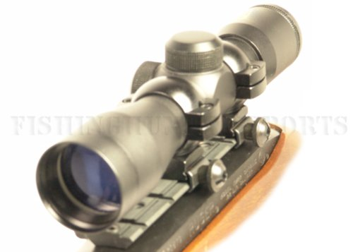 Ruger 10/22 Black (Blued) 4x30 Rifle Scope w/ Free Mount & Rings