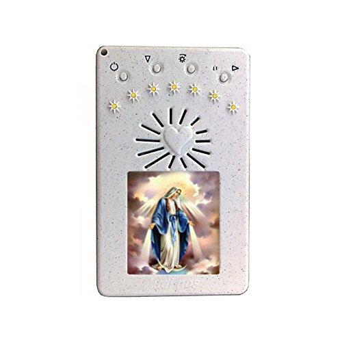 Rosario Elettronico Bianco con Coroncina alla Divina Misericordia Madonna Miracolosa