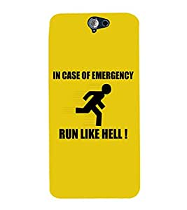 EPICCASE Run like hell Mobile Back Case Cover For HTC One A9 (Designer Case)