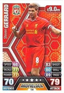 Match Attax 2013/2014 - Liverpool - #156 Steven Gerrard Base Card by Topps