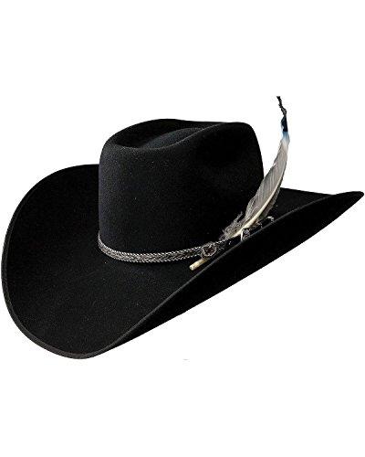 f49b2aa218028 Resistol Men s 4X Tuff Hedeman Bull Bash Felt Cowboy Hat Black 7 1 8 ...