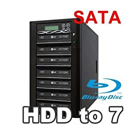 Spartan 250GB Hard Drive to 7 Target Multiple Blu Ray Disc Copy Duplicator with USB connection to PC (Standalone Video & Audio Disc Duplication System) B07-SSPPRO