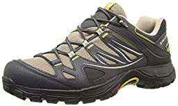 Salomon Women\'s Ellipse GTX Hiking Shoe, Thyme/Asphalt/Dark Green, 7 M US