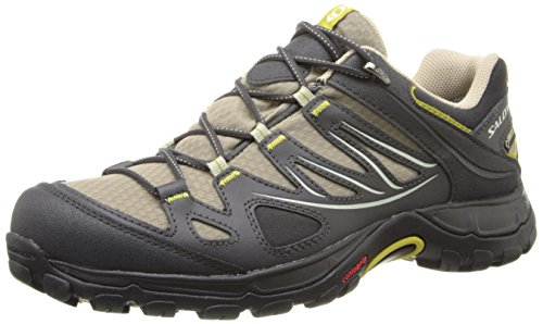 Salomon Women's Ellipse GTX Hiking Shoe, Thyme/Asphalt/Dark Green, 9 M US