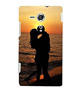 Lovely Romance 3D Hard Polycarbonate Designer Back Case Cover for Sony Xperia SP :: Sony Xperia SP M35h