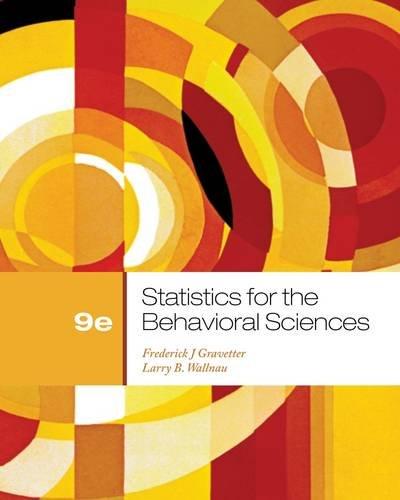 Statistics for the Behavioral Sciences (PSY 200 (300)...