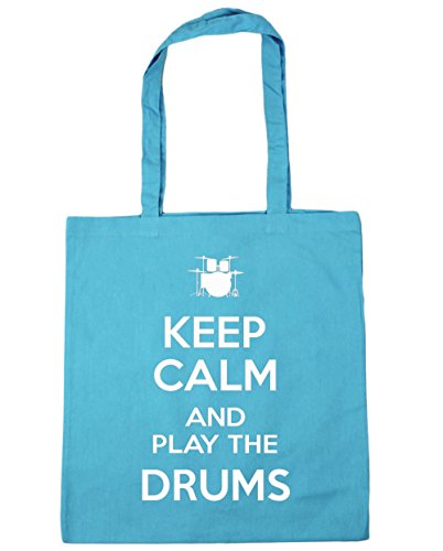 hippowarehouse-keep-calm-and-play-the-drums-tote-shopping-gym-beach-bag-42cm-x38cm-10-litres