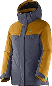 Salomon Juniors' Girls' Sashay Jacket Artist Grey-X / Yellowstone Medium