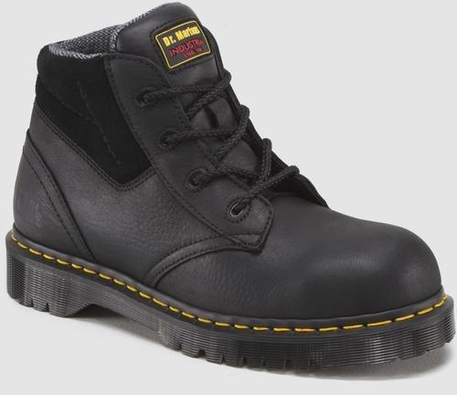 0b5534b395e3 The Features DR MARTENS INDUSTRIAL Men s 7B09 ST 4 Eye Boot Black 10 0 M -