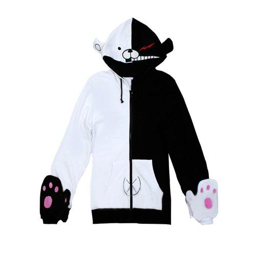 ダンガンロンパ 希望の学園と絶望の高校生 黒白熊 風 モノクマ  ジャージー/ パーカー コスプレ衣装  Mサイズ Ruleronline