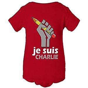 Je Suis I Am Charlie Fist One Piece Baby Bodysuit