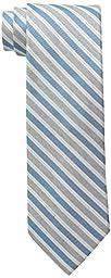 Calvin Klein Men\'s Heather Awning Stripe Tie, Aqua, One Size