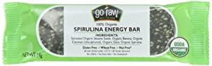 Go Raw Spirulina Energy Bar,  14 gram Bars, 10 Count