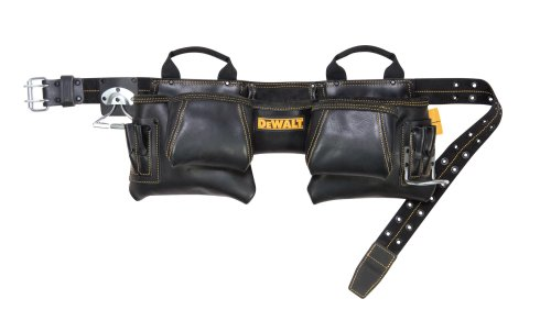 Custom Leathercraft Dewalt DG5472 12-Pocket Carpenter's Top Grain Leather Apron