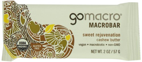 MACROBARS Organic Cashew Butter, 2 oz Bars (Pack of 15) by GO MACRO