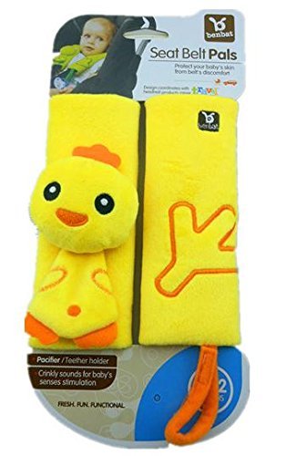 EZ Life Ez Life Cuddly Duck Benbat Travel Friends Seat Belt Pals