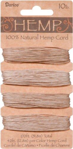 Darice Hemp Cord 10# 170 Feet/Pkg-Natural