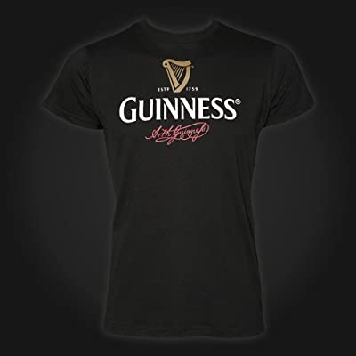Guinness Mens T-Shirt - Black - Arthurs Signature