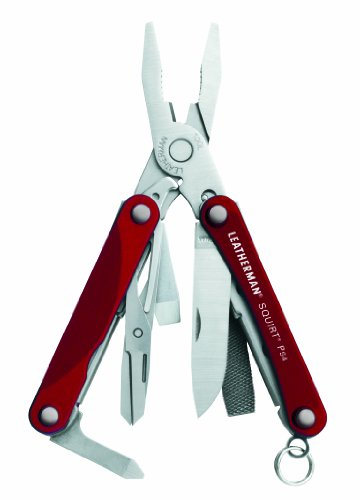 Leatherman 831189 Squirt PS4 Red Keychain Tool with Plier
